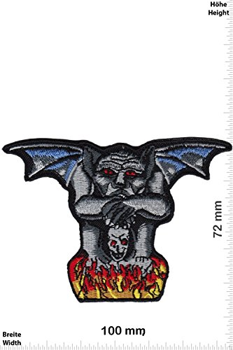 Patch - Drolerie - Teufel - in flame - Oldschool - Rockabilly - Tatoo - Old School Punk Rocks- Chaleco - toppa - applicazione - Ricamato termo-adesivo - Give Away