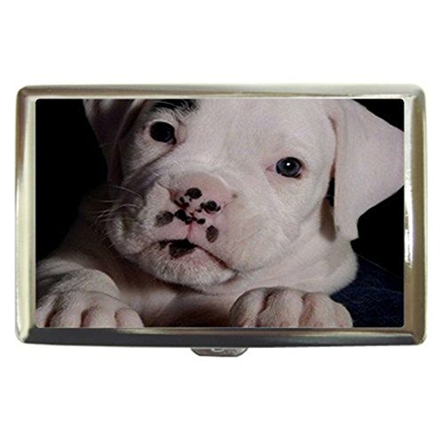 Boxer Puppy Dog Custom Business Name Card Money Credit Card Holder Box Case front-260582