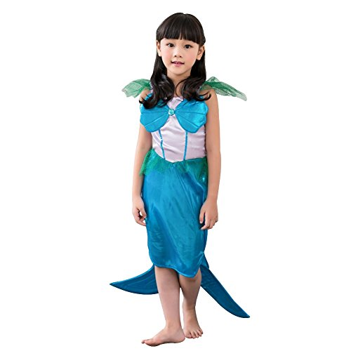 Amur Leopard Kids Halloween Party Costume Dress Little MerMaid Lolita M