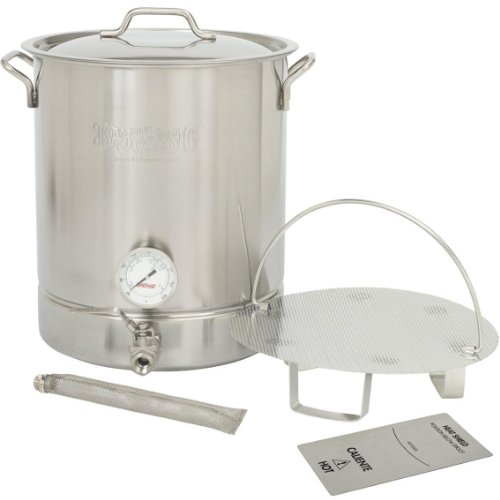 Bayou Classic 16 Gallon (64 Qt) Stainless Steel 6 Piece Brew Kettle Set. Includes Stainless Tri-Ply Stockpot With Low S