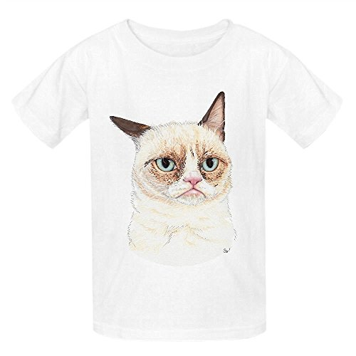 Snowl Grumpy Portrait Unisex Crew Neck Cotton Tees White (Mario Brothers Coloring Book compare prices)