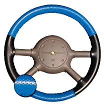 Wheelskins EuroPerf perforated Two Color style Leather Steering Wheel Cover - Oak Perforated Top & Bottom and Grey Perforated Left & Right Sides, Size: 15 1/2 inches X 3 3/4 inches