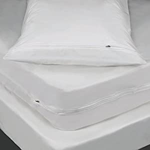 6 Gauge Vinyl Fittted King Size Mattress Cover, 16-Inch Deep