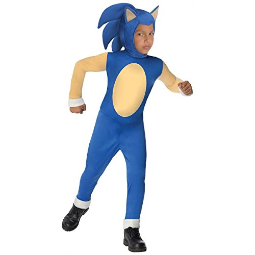 [GSG Sonic The Hedgehog Costume for Kids Video Game Halloween Fancy Dress] (Female Videogame Characters Costumes)