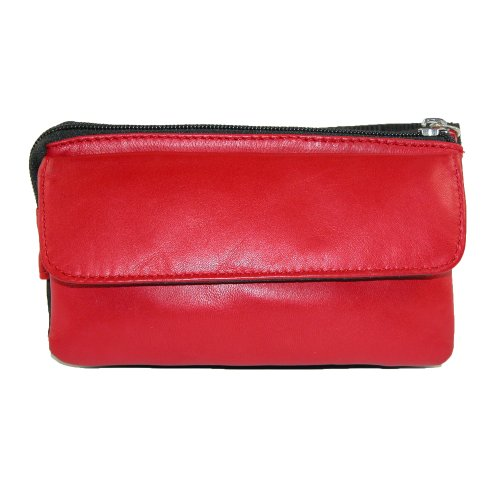Winn-Napa-Leather-Microfiber-Mini-Fanny-Pack-Black-Red-White