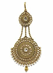 Jewelshingar Jewellery Exclusive Maangtikka-Passa For Women ( 25135-maangtikka-passa )