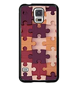 PRINTVISA Abstract Puzzle Pattern Case Cover for Samsung Galaxy S5