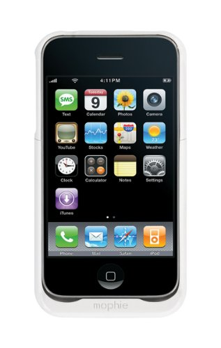Mophie Juice Pack Air Case and Rechargeable Battery for iPhone 3G, 3GS (White)