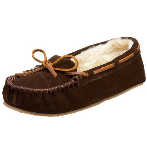 Minnetonka Women's 4012 Cally Faux Fur Slipper,Chocolate,8 M US