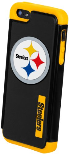 Best Price Forever Collectibles Pittsburgh Steelers Rugged Dual Hybrid Apple iPhone 5 & 5S Case
