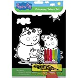 Peppa Pig Velvet Colouring Set with 6 pens - Art & Craft Idea or Party Idea
