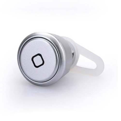 Mokingtop New World Smallest Bluetooth Stereo Headset Earphone For Cell Phone Iphone Samsung (Silver)