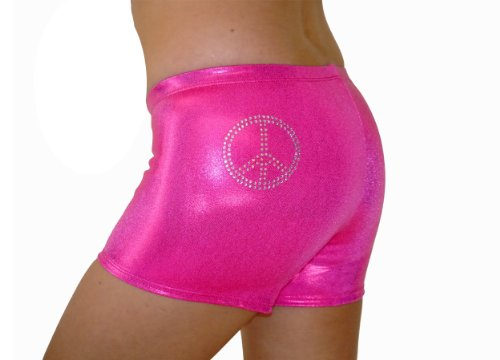 Tw Girl'S Rhinestone Booty Shorts|Hot Pink Mystique-Child: 8/10 (Sm) front-575047
