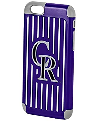 Forever Collectibles Dual Hybrid 2-Piece TPU Case for iPhone 6 - Retail Packaging -MLB Colorado Rockies