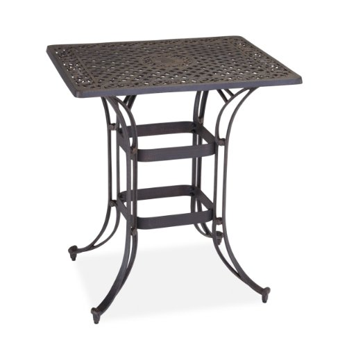 Home Styles Biscayne Space Saving Rectangle Bistro Table, Bronze