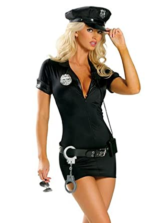 Amazon.com: Sexy Police Woman Officer Costume - SMALL/MEDIUM: Adult