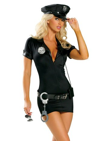 Sexy Police Woman Officer Costume - SMALL/MEDIUM