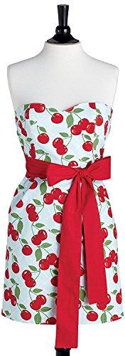 Jessie Steele Kitchen Cherry Bib Strapless Apron (Jessie Steel Aprons compare prices)