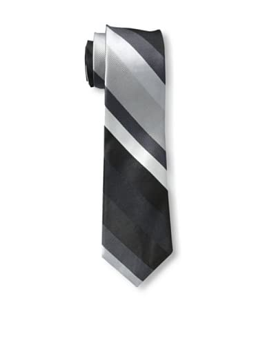 Ben Sherman Men's Addison Stripe Tie, Black