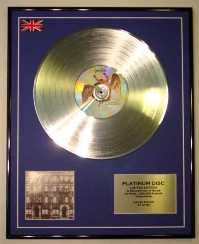 Led Zeppelin/Ltd Edition Cd Platinum Disc/Physical Graffiti