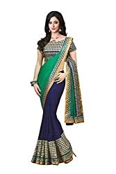 Bikaw Embroidered Turquoise Georgette Party Wear Saree - BT-1148-A2