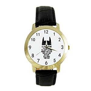 I'm Not Saying I'm Batman - Super Hero Image Photo Custom Diy Men or Women's Fashion Leather Strap Watch