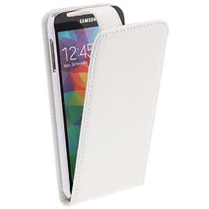 Crazy4Gadget Vertical Flip Leather Case for Samsung Galaxy S5 / G900(White)