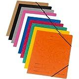 Herlitz Elastic Folder Colorspan A4 Assorted Colours (10 Pieces)