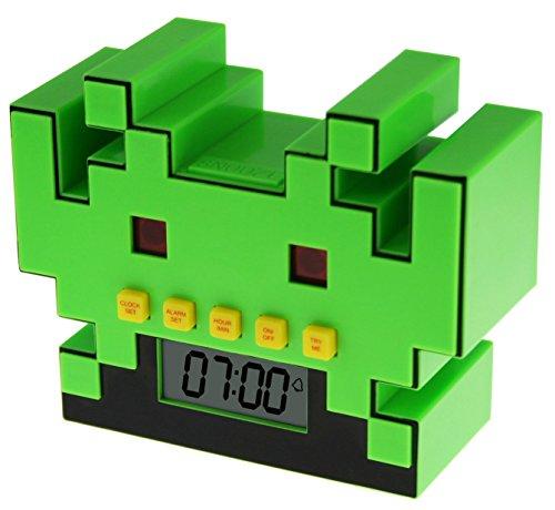 Space Invaders 80's Retro Game Alarm Clock - Sveglia Digitale