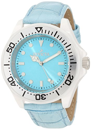 Invicta Women's 11299 Ceramic Light Blue Dial Watch