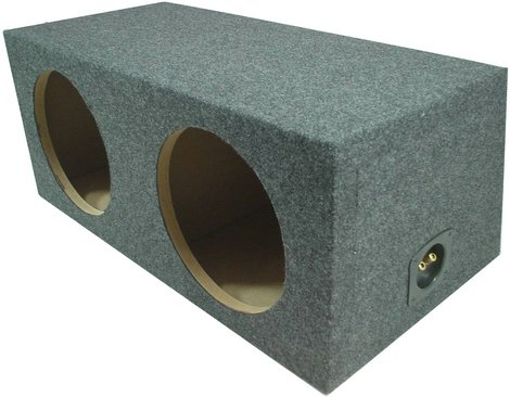 "Asc Dual 12"" Subwoofer Sealed Universal Fit Rearfire Sub Box Speaker Enclosure"