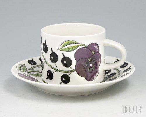 アラビアARABIA 8983-8984 Pパラティッシ パープル コーヒーカップ&ソーサー セット 280ml 並行輸入品
