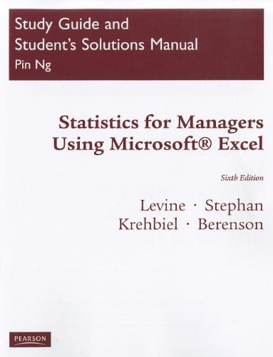 Student Study Guide & Solutions Manual for Statistics...