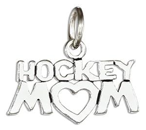 "Sterling Silver ""Hockey Mom"" Charm"