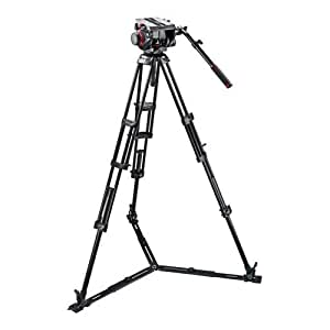 Manfrotto 509HD Video Head with 545GB Tripod Legs and Ground Level Spreader