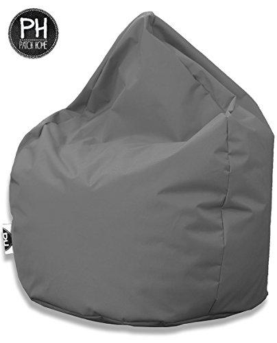 Sitzsack Tropfenform Anthrazit für In & Outdoor XL 300 Liter - mit Styropor Füllung in 24 versch. Farben und 3 Größen