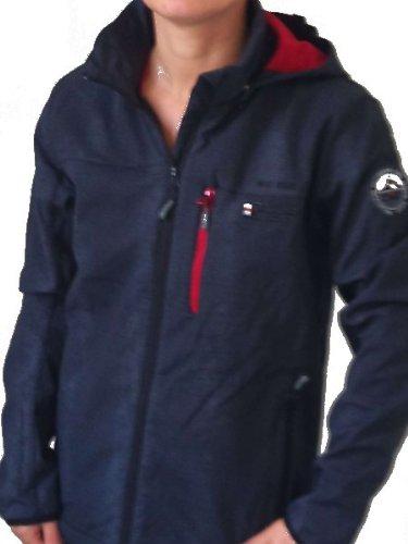 F.LLI Campagnolo Jungen Softshell Jacke mit Kapuze schwarz günstig bestellen