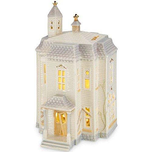 "Lenox Fine Porcelain China Halloween Village Lighted House Figurine - 9.51"" Tall"