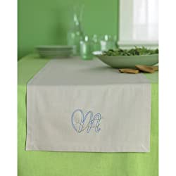 Martha Stewart Crafts Table Runner, Monogram