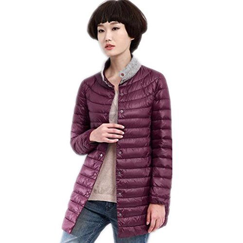 zyqyjgf-down-jacket-womens-lightweight-fur-collar-warm-button-long-sleeve-loose-solid-color-puffer-c