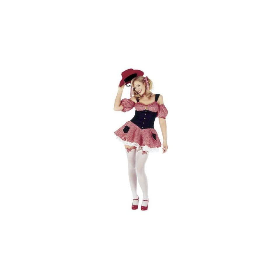 Dolly Parton Gingham Cowgirl Fancy Dress Costume Size US 10 ...