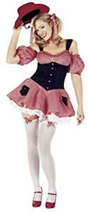 Dolly Parton Gingham Cowgirl Fancy Dress Costume Size US 10-12