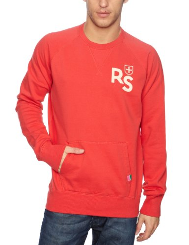 Rampant Sporting Guys Pocket Crew Men's Jumper Summer Red Small