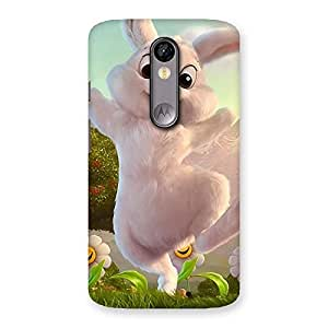 Enticing Bunny Funny Back Case Cover for Moto X Force