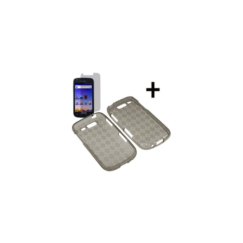 BC Silicone Sleeve Gel Cover Skin Case for T Mobile Samsung Galaxy S Blaze 4G T769+ LCD Guard Smoke Checker