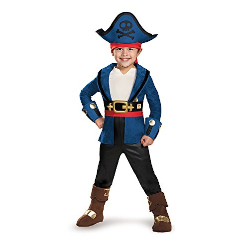 Disguise 85602M Captain Jake Deluxe Costume, Medium (3T-4T)