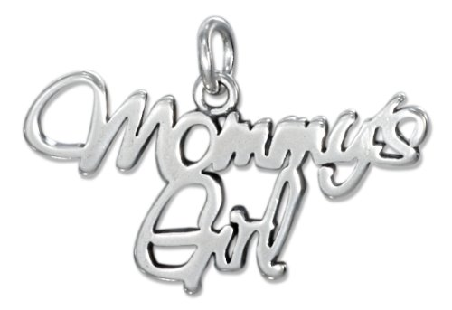 Sterling Silver Script Mommy's Girl Charm