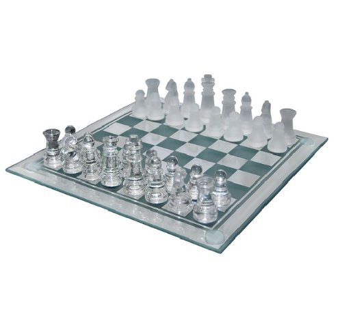 "Rhode Island Novelty 10"" Glass Chess Set"