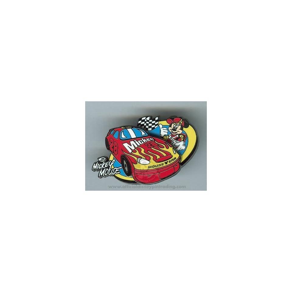 ad3d26e8276 Disney Pin Mickey Mouse Race Car Nascar Pin on PopScreen