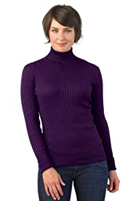 Fair Indigo Organic Ribbed Turtleneck Sweater